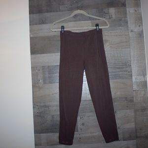 Simply Vera Wang Medium Leggings Brown Medium